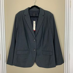Talbots Plus Italian Flannel Wool Blazer Jacket